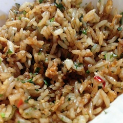 Primer plano arroz