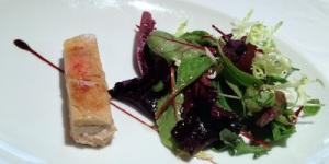 Terrina de anguila ahumada caramelizada y foie
