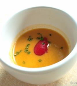 aperitivo gazpacho con fresones