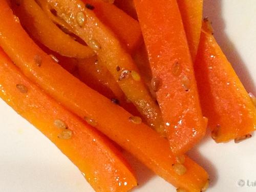 Una guarnición diferente: zanahorias consésamo