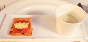 Aperitivo vichyssoise y minipizza