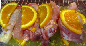 Pollo preparado para hornear