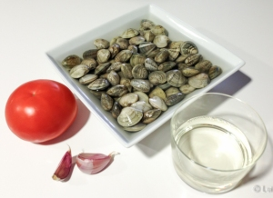 Ingredientes pasta vongole