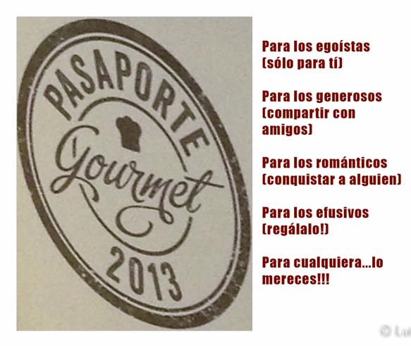 Sorteo Pasaporte Gourmet en Baco yBoca!