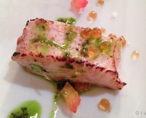 Salmon ahumado al momento detalle