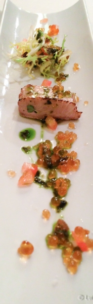 Salmon ahumado al momento_