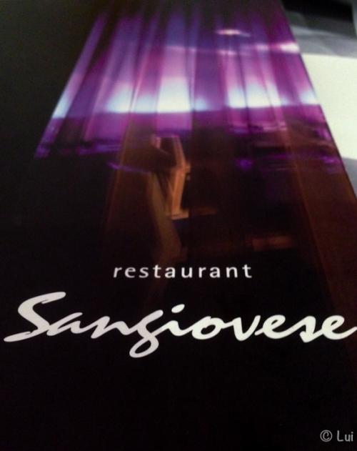 Carta restaurante sangiovese