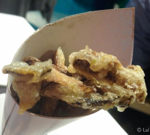 Paperina de tempura de bolets