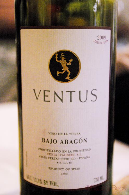 Ventus 2009 DO Bajo Aragon, un vinoelegante.