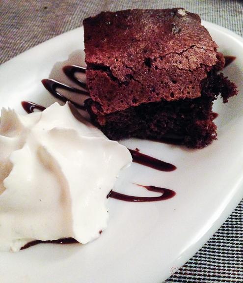 Brownie en el filete Ruso restaurante Barcelona