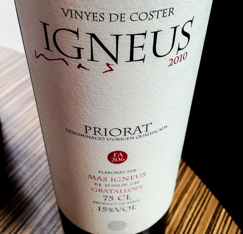 IGNEUS  FA206 2010 (DO Priorato)… un vino parasoñar