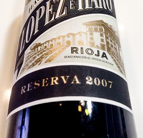 Lopez de Haro Reserva 2007 (DO Rioja)… buen vino a buenprecio