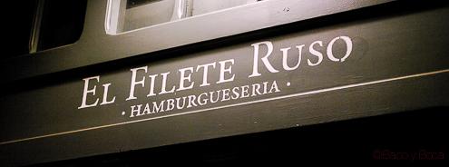 Rótulo El filete Ruso Restaurante Barcelona
