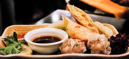 Surtido empanadillas al vapor dim sun en Bun Sichi restaurante japones barcelona pasaporte time out
