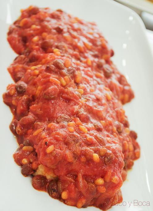 bacalao con tomate en bacallaneria Masclans