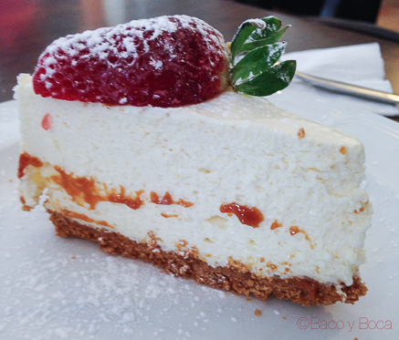 Cheesecake en the kingfisher restaurant dublin