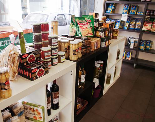 estanteria Conservas mermeladas delicatessen en Masclans