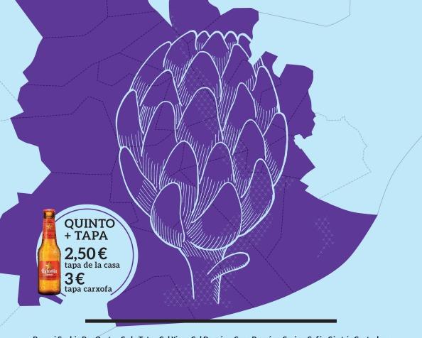 Quintotapa El Prat. Protagonista: la alcachofa delPrat