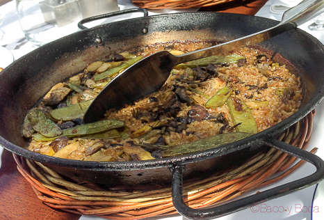 Arroz con verduras maritim terraza de restaurant Maritim Barcelona