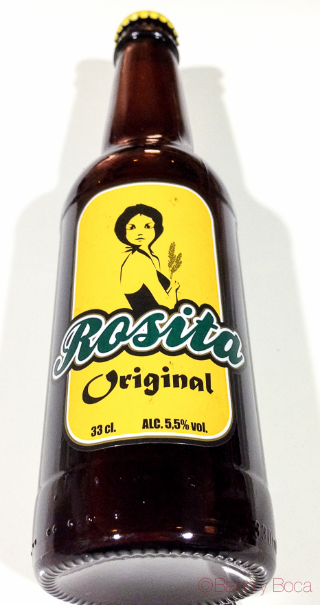 Botella Cerveza Rosita lote amigastronomikas