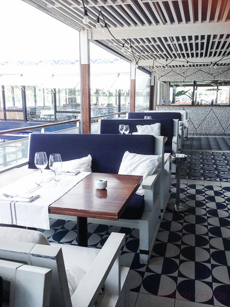 La terraza de restaurant Maritim Barcelona