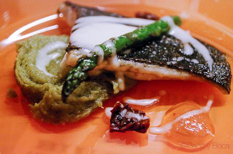1 Rodaballo con citricos y cremoso de pesto cena maridaje sucapa