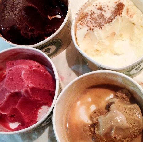 Helados cuatro sabores Bodevici