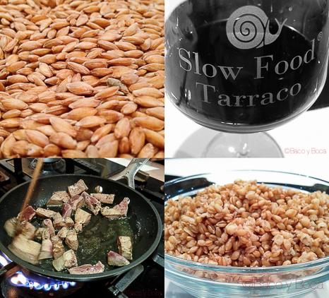 Preparación e ingredientes slowfood