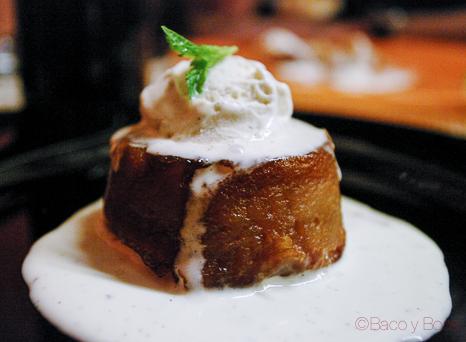 tatin de manzana con helado de hierbabuena frente cena maridaje sucapa