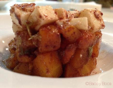 Timbalet de pastanaga amb formatge emporità de Mas Marcè amb tàperes de Ballobar Slow food deu mans 2