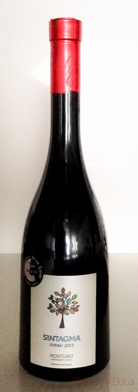 Botella Sintagma syrah 2012