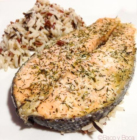 Salmon a las finas hierbas, el gran amigo deLeKue