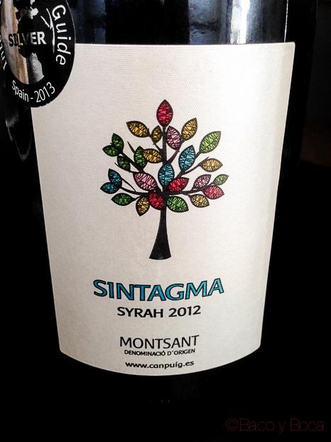 Etiqueta Sintagma syrah 2012