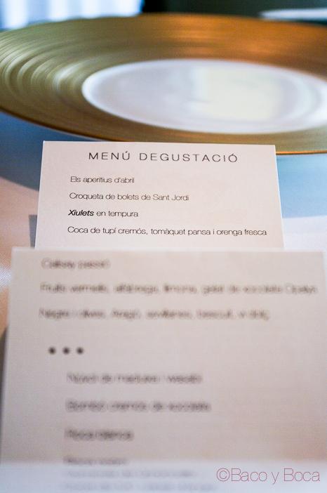 menu degustacion Sant Pol Carme Ruscalleda