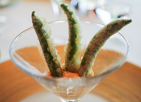 Xiulets en tempura sant Pol carme ruscalleda