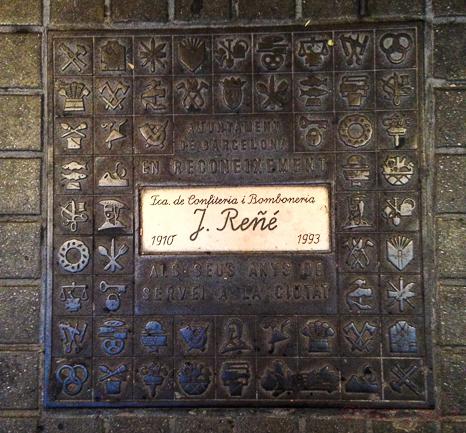 placa ayuntamiento barcelona pasteleria reñe