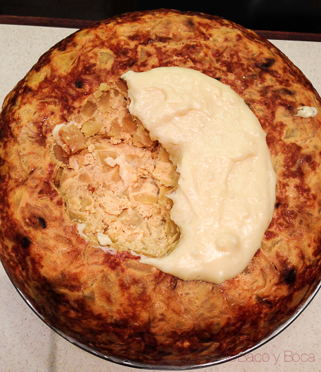 Torilla de patatas con queso