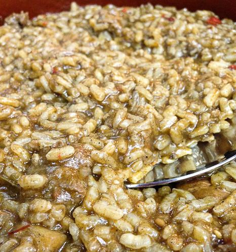Detalle arroz mar y montaña La Cava Tarrega
