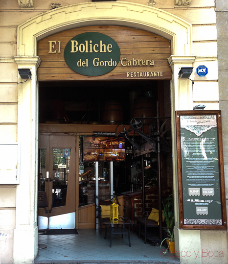 Entrada-restaurante-El-boliche-del-gordo-cabrera-barcelona