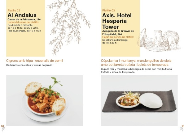 Más actividades gastronómicas en L'H: A la Tardor,Platillos!