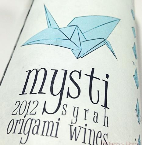 Origami Wines: Mysti Syrah 2012 D.O.Montsant