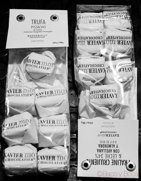 Bombones Chocolatier Xavier Mor Bacoyboca