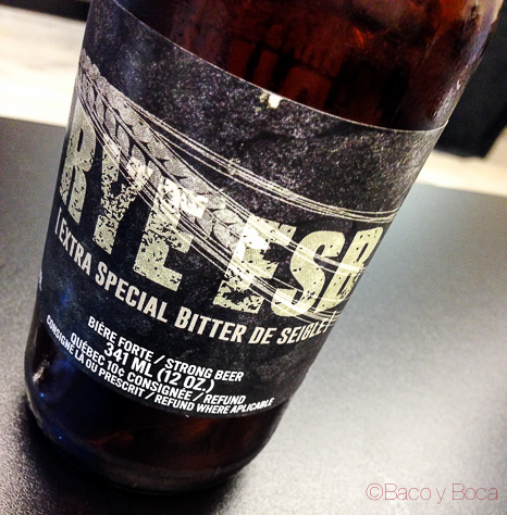Rye Esb cerveza artesana canadiense baco y boca_