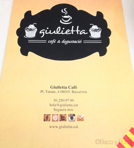 Carta Giulietta Cafe Baco y Boca