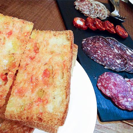 embutido y pan con tomate Sagardi Recinte Modernista Hospital Sant Pau Bacoyboca