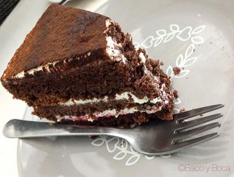 Tarta de chocolate Giulietta Cafe Baco y Boca