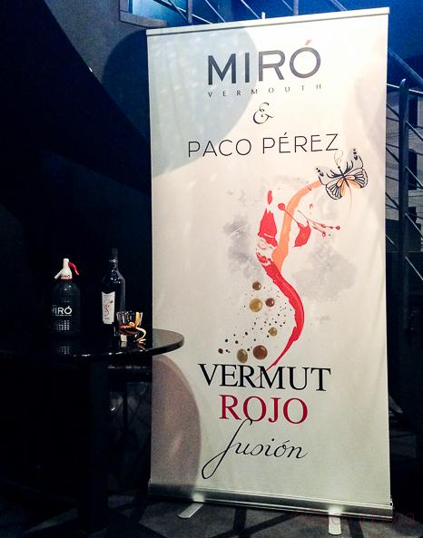 Vermut Rojo Fusión: Miró y PacoPerez.
