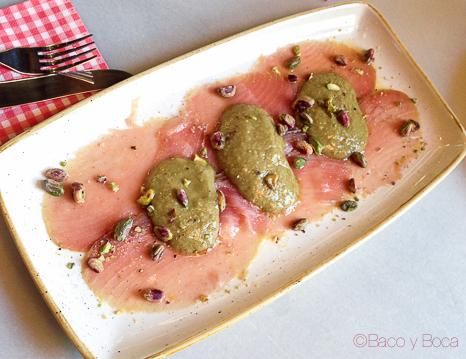 Carpaccio Davita Italian gastro Market baco y boca