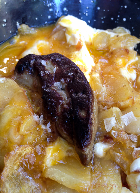 huevos rotos con foie fresco vainilla Alba Granados bacoyboca