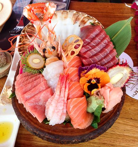 surtido sashimi Cdlc Barcelona Carpe Diem Baco y Boca